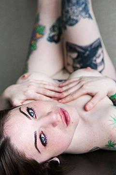 Horny Tattooed Babe