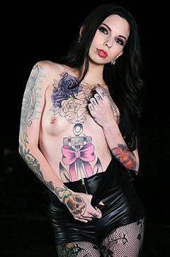 Sierra Cure Solo Tattooed Burnign Angel