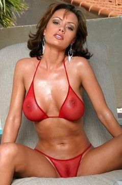 Crissy Moran Red Fishnet
