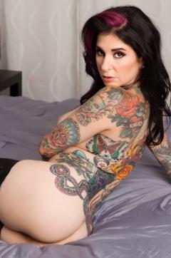 Tattooed Joanna Angel In Silky Lingerie