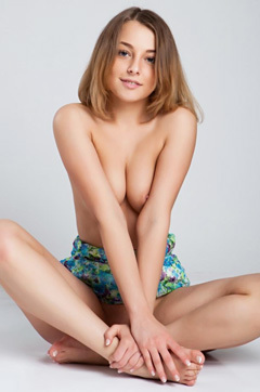 Sweet Blonde Teen In Skirt Loves To Show Her Body