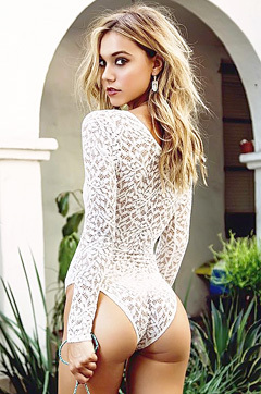 Alexis Ren In Sexy White Lace