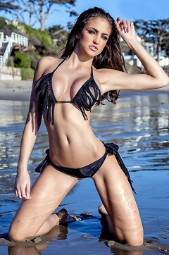 Jaclyn Swedberg In Sexy Black Bikini