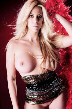 Busty Blonde Babe Gisele