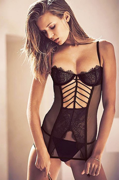 Josephine Skriver In See Through Lingeries And Topless