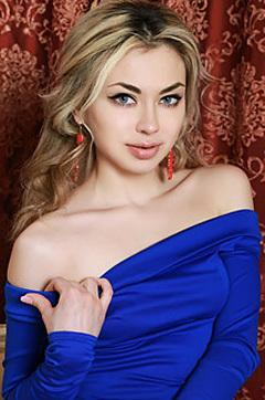 Tiara In Blue Dress