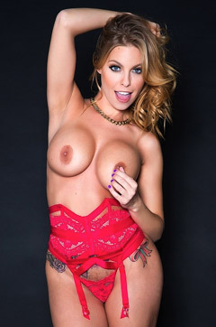 Britney Amber In Sexy Red Lingerie