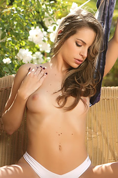 Kimmy Granger Strips In The Garden