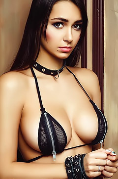 Beautiful Model Helga Lovekaty