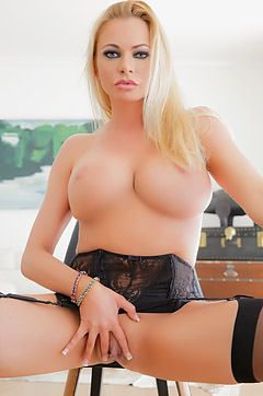 Briana Banks Is Posing In Sexy Stockings