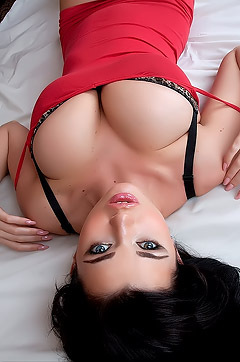 Sha Rizel Strips Off Her Sexy Red Dress