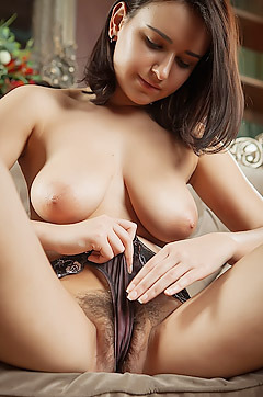 Natural Big Boobed Teen Sanita