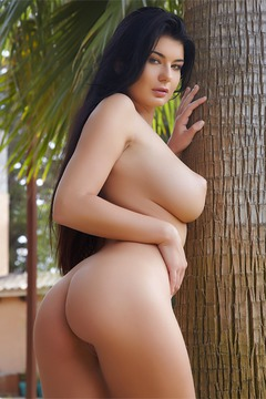 Lucy Li's white bra and panties