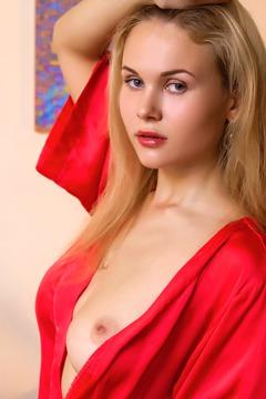 blue-eyed blonde Caroline Abel