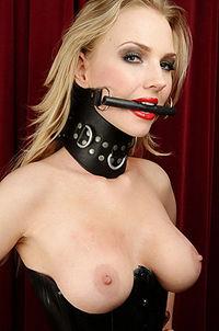 Sub Blonde Accessorised In Rope