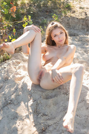 Busty Blonde Teen Milla Gets Nude Outdoors 10