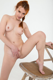 Cute Redead Teen Alison Fox Naked In The Studio 07